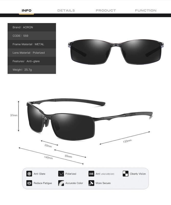 نظارات شمس مستقطبة فاخرة للرجال بإطار من خليط معدني 2020 نظارات شمسية بعدسات عاكسة للرجال نظارات شمسية للرجال