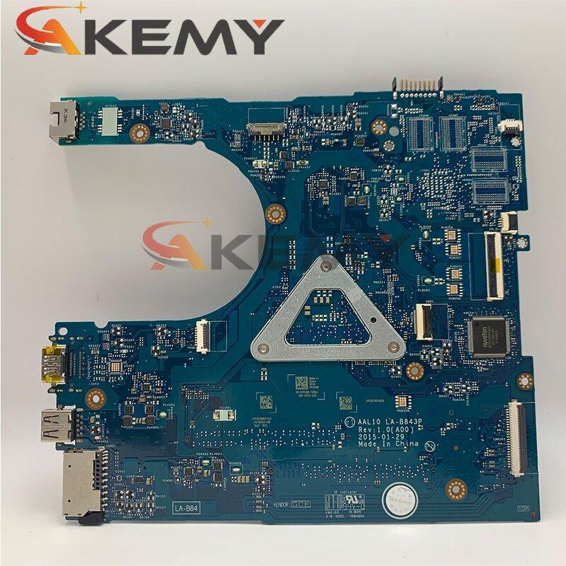 الأصلي CN-05HTPV 05HTPV اللوحة المحمول لديل انسبايرون 5558 i3-5005U LA-B843P SR27G DDR3 اللوحة