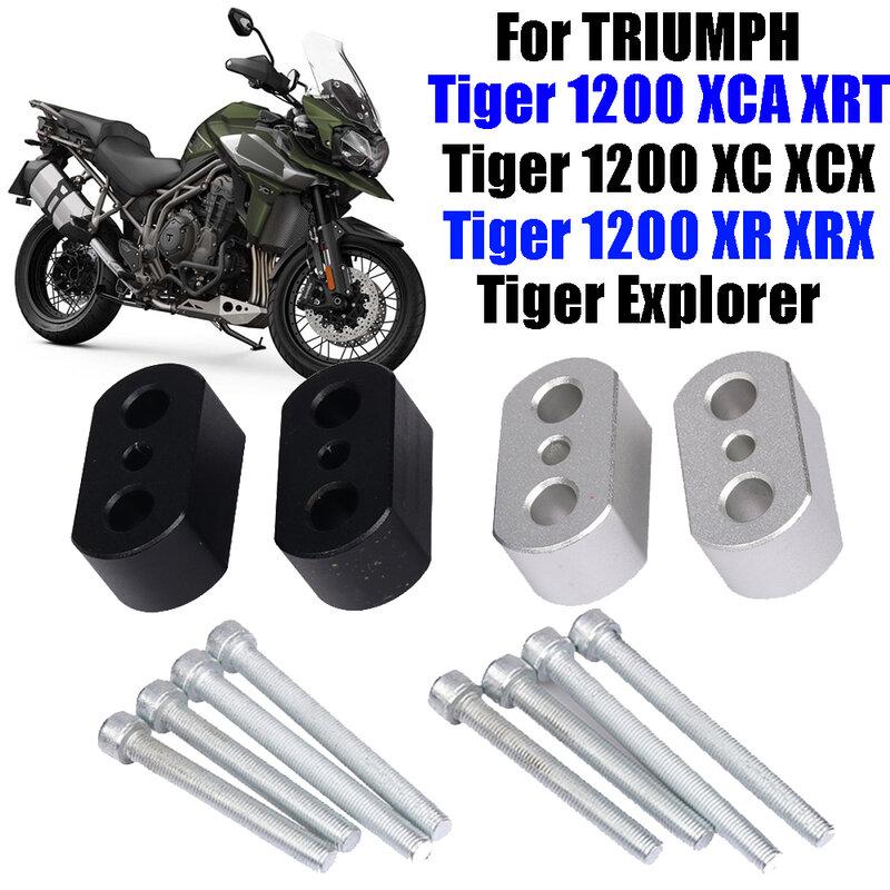 مشابك لمقود الدراجة النارية انتصار تايجر 1200 XC XCA XCX XR XRT XRX Tiger Explorer مشابك لتثبيت مقود الدراجة النارية