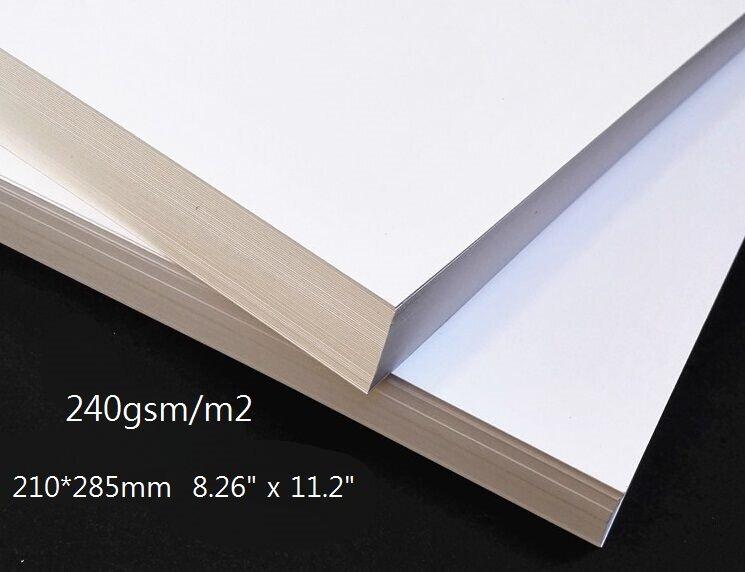 ورق مقوى أبيض غير لامع مقاس 210 285 مللي متر 240 جرام ا لكل متر مربع ورق كرافت سميك 10 30 50 مم اختر الكمية Arabshoppy