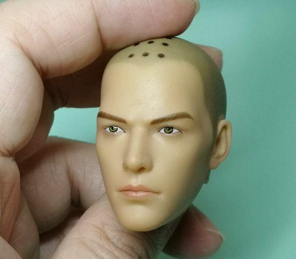 متوفر 1/6 مقياس ذكر الراهب المقدس نحت الرأس مع عيون مفتوحة إغلاق العينين نموذج الرأس لمدة 12 بوصة لتقوم بها بنفسك شكل الجسم
