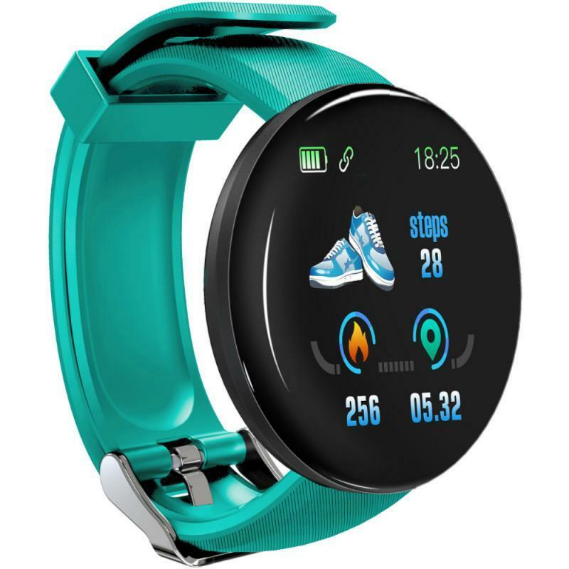 D18S ساعة ذكية جهاز تعقب للياقة البدنية ضغط الدم مراقب معدل ضربات القلب رجل إمرأة ساعة ذكية موضة ساعات ل IOS أندرويد