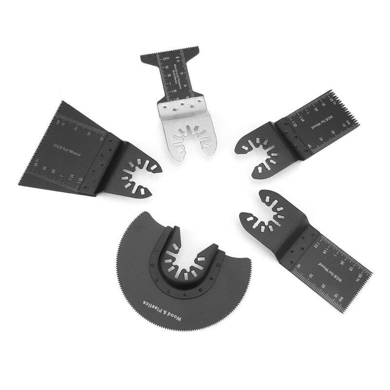 15 قطعة متعددة الوظائف تتأرجح شفرات المنشار الإفراج السريع أداة القطع للبلاستيك الخشب