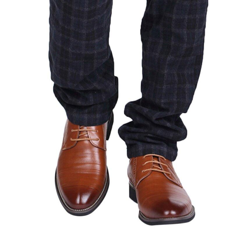 2021 رجال الأعمال الكلاسيكية الرسمي أحذية من الجلد موضة بلون حذاء مسطح خمر أكسفورد أحذية لل أحذية رجالي حجم 40-45
