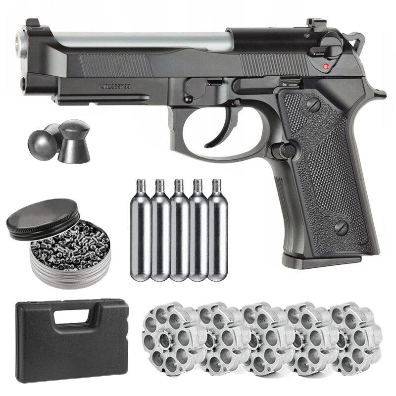 بيستوليت ASG M9 IA ضربة الظهر بندقية رصاصة محول 2 Co2 الرصاص و حزمة من 500ct الرصاص الكريات الكلاسيكية المنزل ديكو علامات جدار معدني