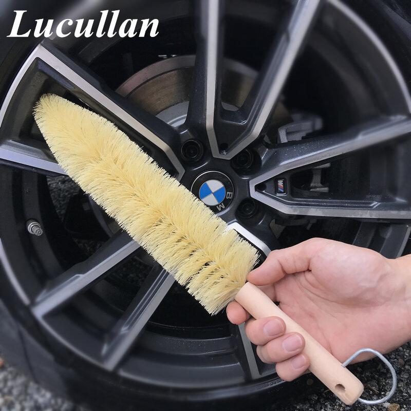 Lucullan نحيلة إطار سيارة عجلة تكلم محرك فرش انحناء لتنظيف عميق داخل الحافات برميل والمناطق الضيقة