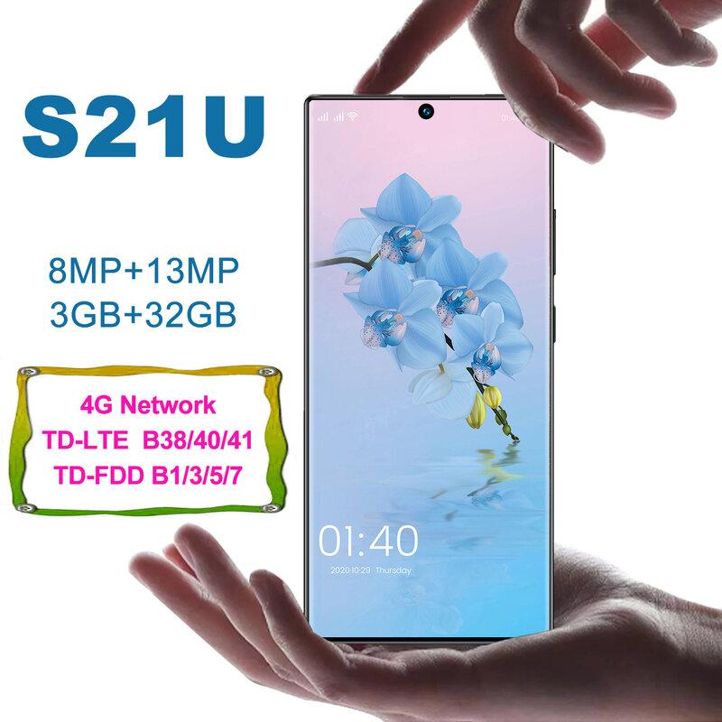 الهاتف الذكي Cectdigi S21U + أوروبا وآسيا 4G LTE FDD شاشة 6.9 بوصة Incell 3GB RAM 32GB ROM الهاتف المحمول هاتف ذكي مفتوح