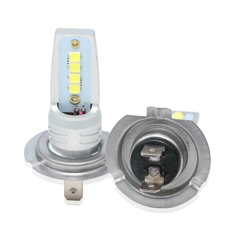 جديد 2 قطعة LED لمبة H7 LED 40 واط 8SMD 12 فولت 24 فولت الأبيض led أضواء الضباب h7