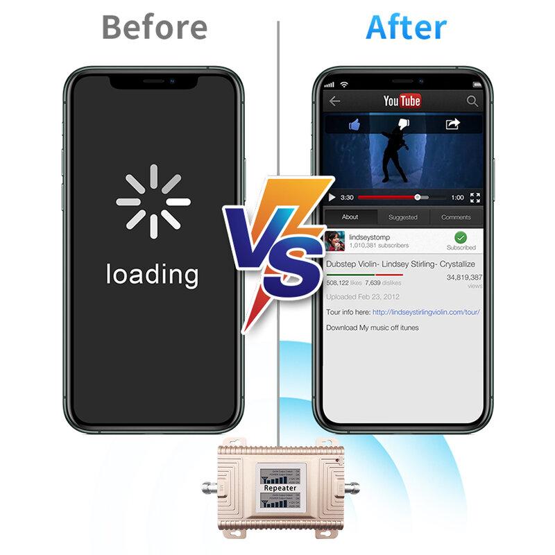 Lintratek مكبر صوت أحادي النطاق ثنائي النطاق 2G 3G 4G مكرر CDMA GSM 850 900 1900 1700 1800 AWS قطعة LTE الداعم الخلوي لأمريكا