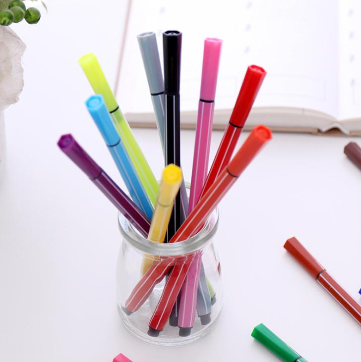 12/18/24/36 ألوان قابل للغسل المائية القلم رسم اللوحة أقلام تلوين للطفل لطيف قرد زجاجة طالب الفن لوازم