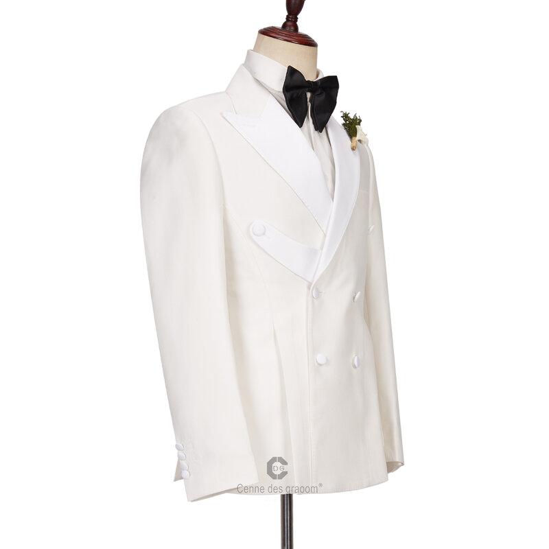 سنن ديس غراوم جديد الرجال الدعاوى مصممة خصيصا سهرة مزدوجة الصدر بليزر السراويل للحزب المغني العريس الزفاف الذكور حفلة موسيقية A-968