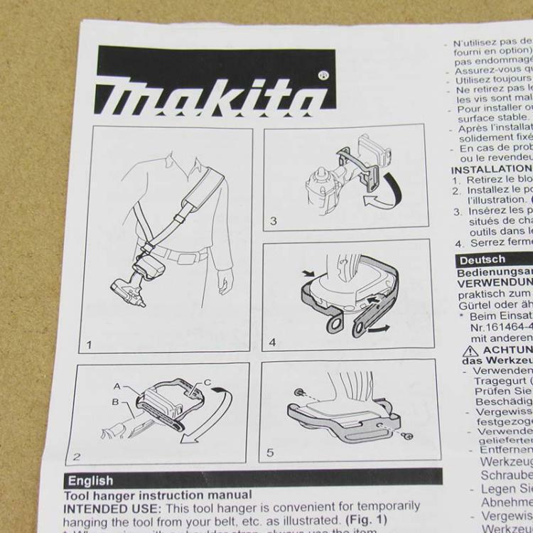"""خطاف مشبك معدني من Makita 197940-2 حزام كتف 161464-4 لـ DTW190Z DTW190SF DTW190 18 فولت LXT 1/2 """"أداة سقالة بمفتاح ربط"""