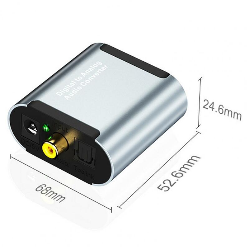 محلل شفرة سمعي RCA 3.5 مللي متر مكبر للصوت سبائك الألومنيوم محول صوت صغير للمنزل المتكلم