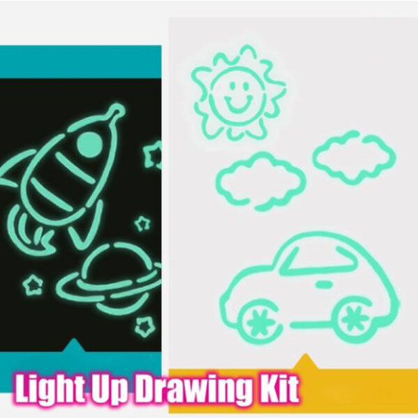 ماجيك تضيء الرسم متعة تطوير لعبة رسم لوحة الرسم اللوحي المحمولة للأطفال أطفال تلوين الرسم المجلس
