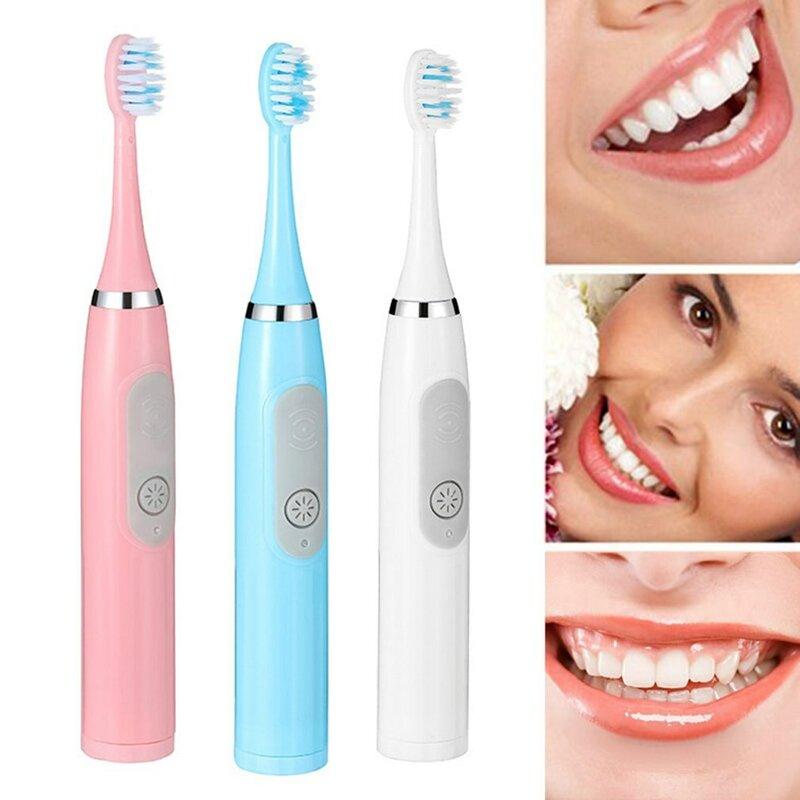 فرشاة أسنان كهربائية للكبار ، فرشاة أسنان كهربائية بالموجات فوق الصوتية ، مقاومة للماء ، أوتوماتيكية