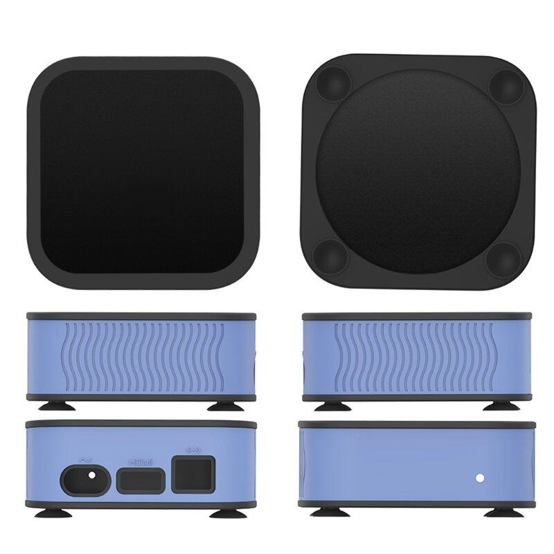 مكافحة إسقاط يغطي مع المعصم لينة اللمس مكافحة خسر فك التشفير صندوق الغبار الحال متوافق مع 4K 5Th/4Th مربع التلفزيون الذكية عالية الجودة