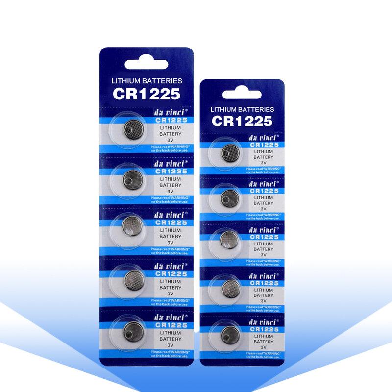 10 قطعة CR1225 زر عملة بطاريات ليثيوم LM1225 BR1225 ECR1225 KCR1225 بطارية ليثيوم أيون للعب ومشاهدة الإلكترونية أداة