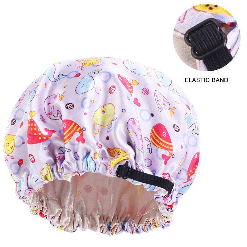 جديد الاطفال بونيه ل حلوى للأطفال لون الحرير حريري بونيه طبقة مزدوجة يوم ليلة النوم قبعة الأطفال رئيس التفاف إكسسوارات الشعر