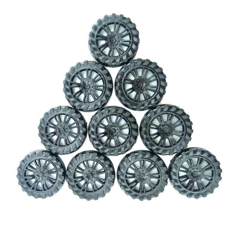 10 قطعة 30 مللي متر x 9 مللي متر محاكاة البلاستيك عجلات 2 مللي متر ضياء رمح حفرة لعبة سيارة عجلة مصغرة إطارات إطارات ضيق صالح ل DIY نموذج RC أجزاء