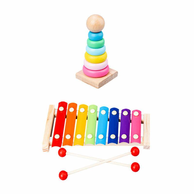 ثمانية ملاحظات على البيانو الطفل خشبية آلة موسيقية الأطفال الموسيقى التنوير التعليم الوالدين والطفل التفاعل