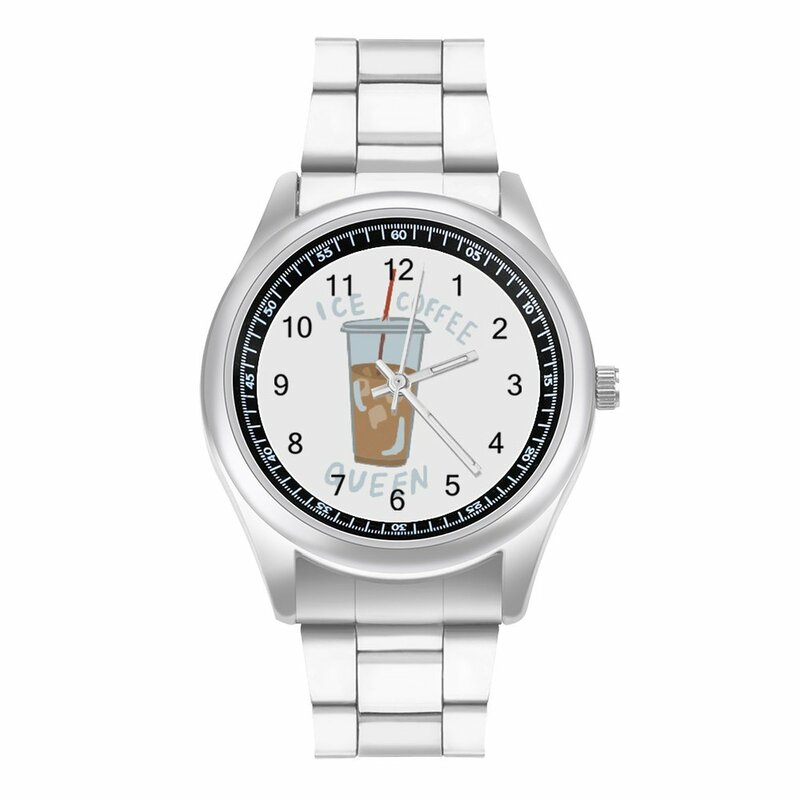 القهوة ساعة كوارتز عادية السيدات ساعة معصم صور الصلب في الهواء الطلق upالمعصم ساعة اليد