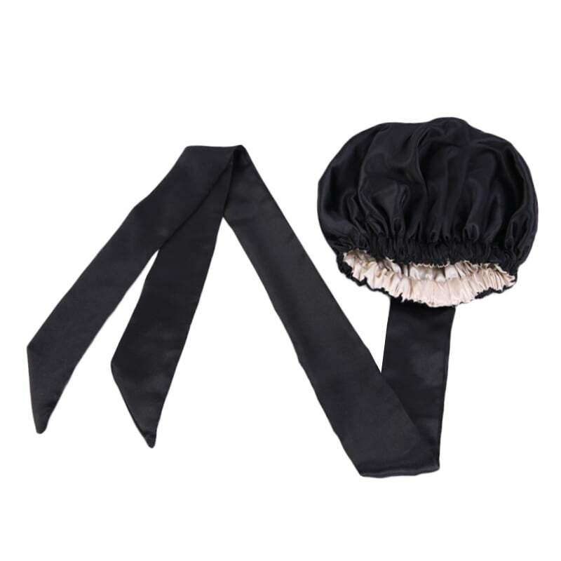 اضافية كبيرة الساتان بونيه للنساء اصطف حك قبعة الحجاب قبعة المرأة ليلة النوم قبعة الشعر التفاف اكسسوارات رئيس التفاف قبعة