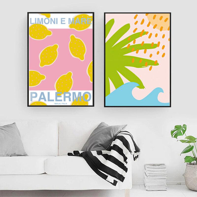 سوق الزهور إشبيلية ديفيد هوكني الملونة مجردة الرسم على لوحات القماش الجدارية الملصقات والمطبوعات غرفة المعيشة الشمال نمط ديكور