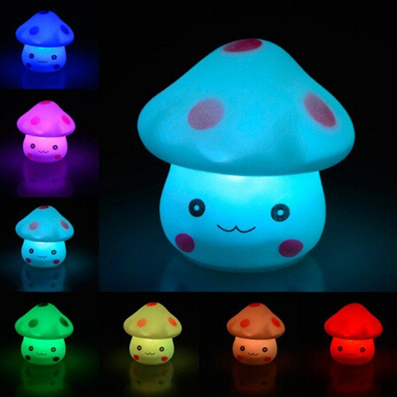 LED الجدة مصباح 7-Color تغيير مصباح صغير ضوء الليل رومانسية الفطر شكل ضوء لطيف مصباح ديكور