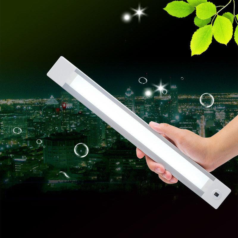 مصباح LED للخزانة السفلية ، قابل لإعادة الشحن عبر USB ، مستشعر موجة يدوي ، ضوء ليلي محمول