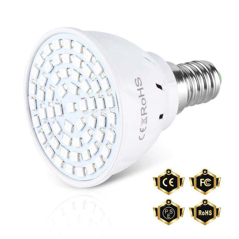 80 المصابيح 220 فولت LED تنمو مصباح شاشة ليد بطيف كامل نمو النبات مصباح إضاءة داخلية تنمو أضواء النباتات E27 نظام استزراع مائي تنمو صندوق