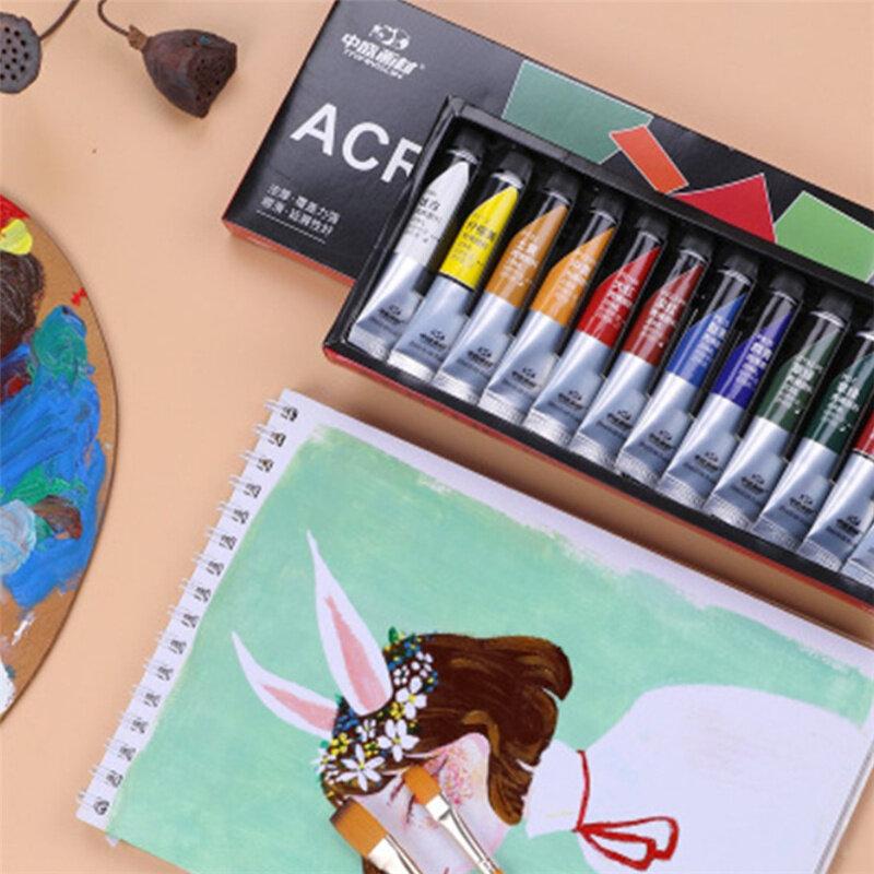 طلاء أكريليك احترافي 12/24 لون رسم 20 مللي صبغ يدوي