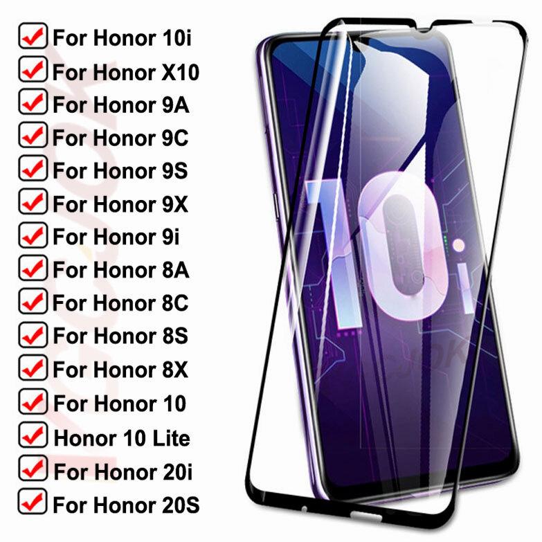 15D الزجاج المقسى لهواوي honor 10i 9i 20i 20S X10 واقية الزجاج Honor 10 لايت 8A 8X 8S 8C 9A 9X 9C 9S شاشة فيلم سلامة