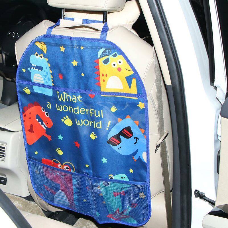 واقي خلفي لمقعد السيارة للأطفال ، مقاوم للماء ، غطاء منظم للسيارة ، رف معلق ، حقيبة تخزين ، حصيرة الركل