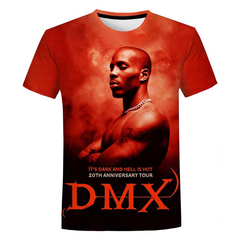 مزق DMX ثلاثية الأبعاد تي شيرت مغني الراب ثلاثية الأبعاد طباعة تي شيرت ريترو اليومية بلايز الرجال النساء الهيب هوب القمم