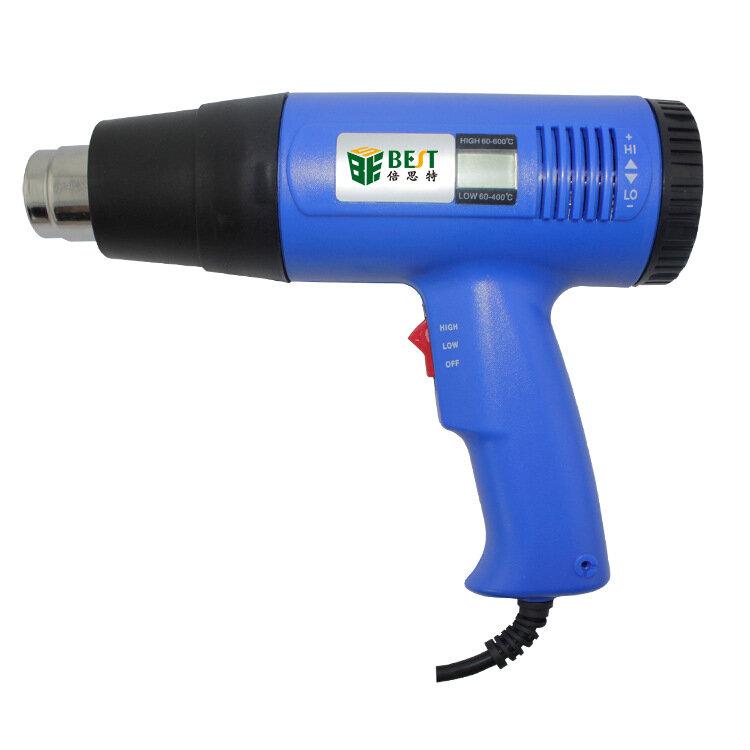 YAOGONG 878L + 2 في 1 شاشة ديجيتال قابل للتعديل درجة حرارة ثابتة الهاتف المحمول صيانة الخبز الساخن بندقية 120L/دقيقة كحد أقصى