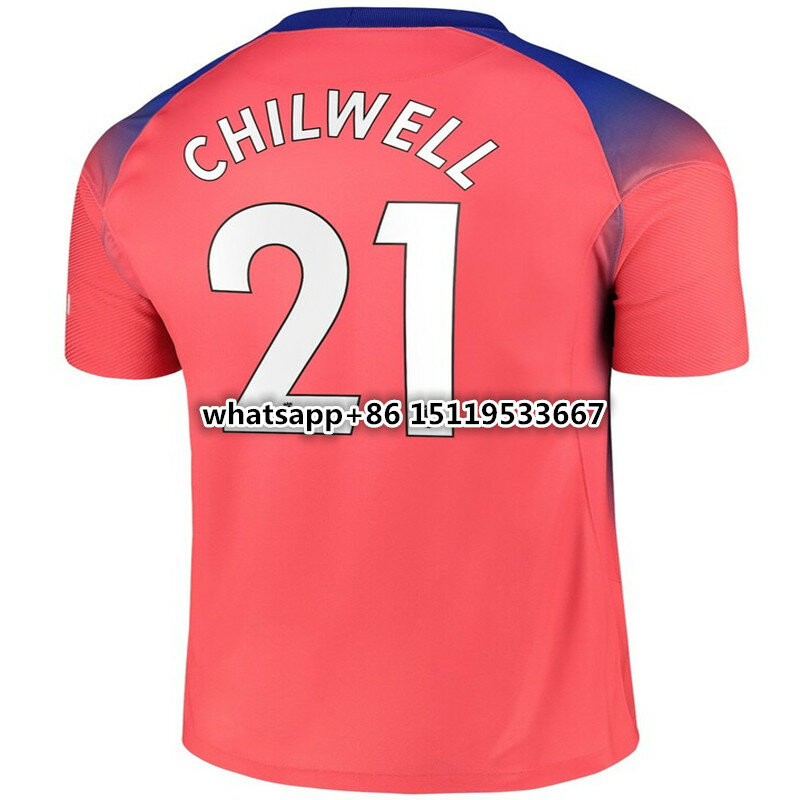 قميص شيلسي جديد من النوع الثالث 2020 إلى 21 من CHILWELL WERNER PULISIC KANTE ZIYECH أبراهام AZPILICUETA ChelseaES عالي الجودة