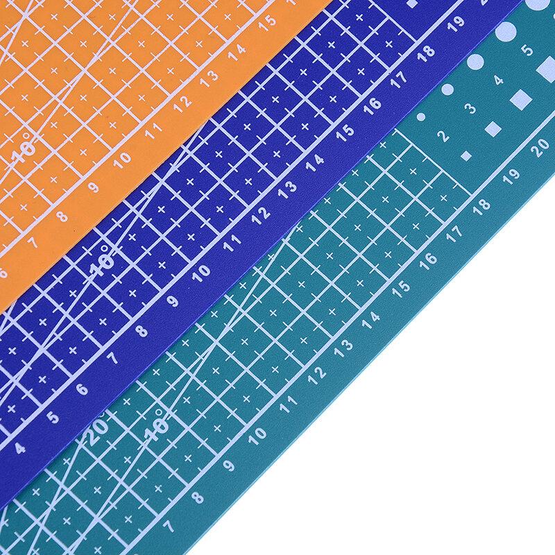 1 قطعة 30*22 سنتيمتر A4 خطوط الشبكة قطع حصيرة كرافت بطاقة النسيج علبة من الجلد/الورق مجلس الخياطة اكسسوارات