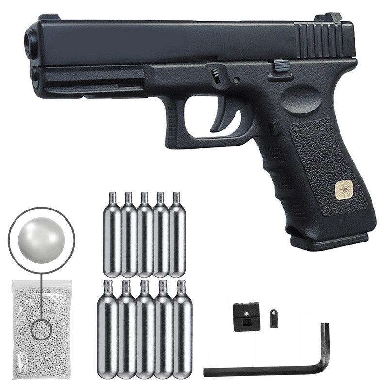 B HFC-طبق الاصل G17 مسدس + ASG Oberland BB الكرة 6 مللي متر 5000 قطعة 1x10 خزانات CO2 المنزل ديكو علامات جدار معدني جدارية