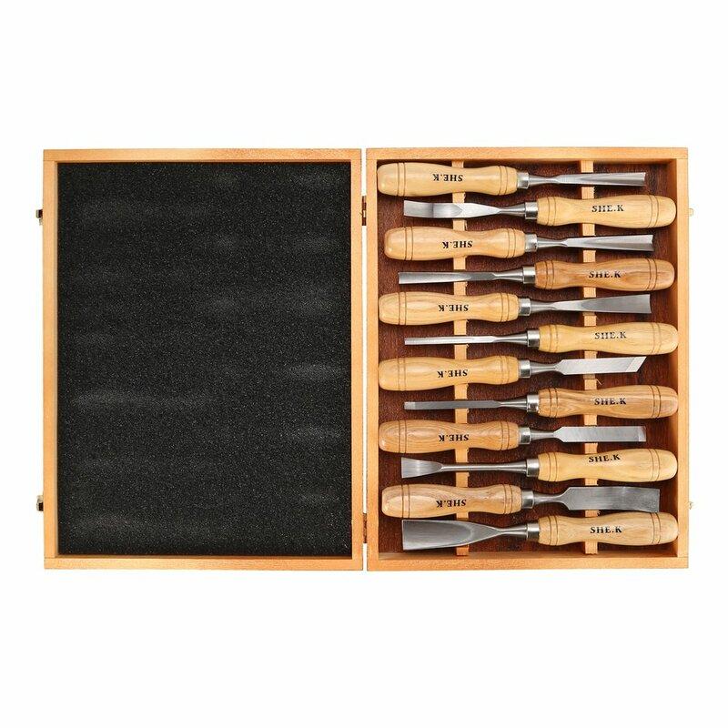 12 قطعة المهنية الخشب نحت طقم أزاميل شارب النجارة سكين اليد أدوات جوج الصلب لتقوم بها بنفسك الخشب العمل اليد أدوات خشبية