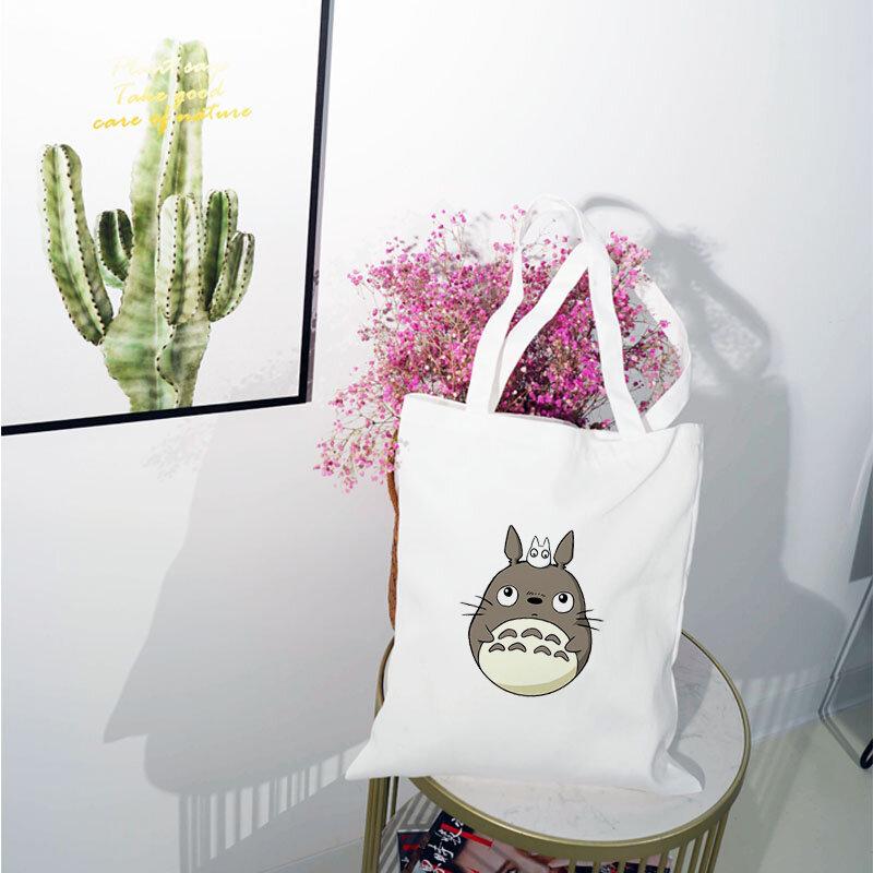 توتورو حقيبة من القماش قماش امرأة عربة الكتف التسوق الجمالية البلاستيكية شخصية القطن على الإطار حقائب كبيرة المرأة رخيصة