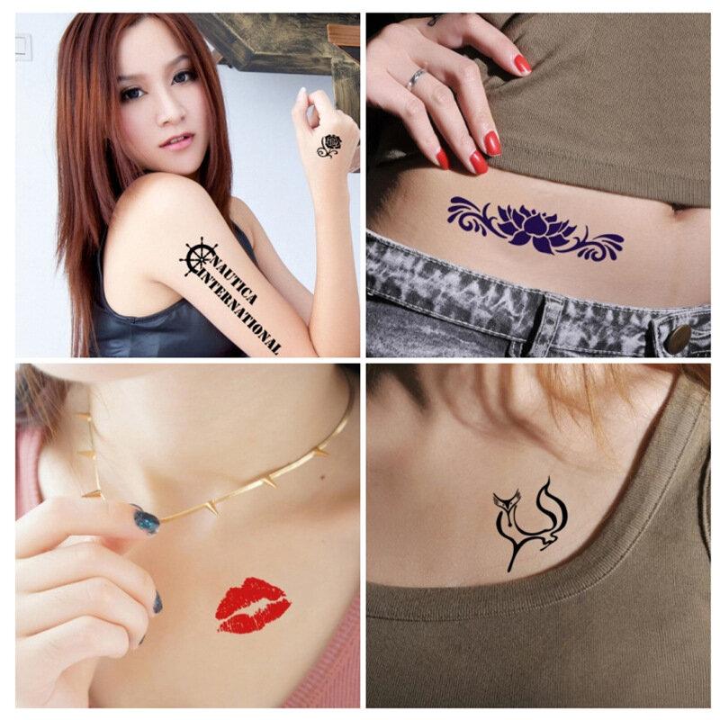 10 مللي أسود أحمر 10 مللي دائم الوشم كريم دائم الوشم الحبر لصق ل الوشم المؤقت الجسم الفن ملصق مقاوم للماء Tattoo بها بنفسك الوشم