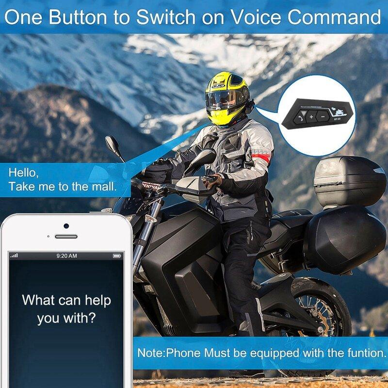 BT22 بلوتوث 5.0 دراجة نارية سماعة خوذة لاسلكي يدوي ستيريو سماعة سماعات MP3 مكبر صوت مع ميكروفون
