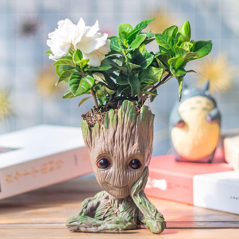 اناء للزهور الطفل Groot ديكور المنزل زارع عمل أرقام شجرة رجل لعبة مجسمة للأطفال حامل قلم حديقة الإبداعية زارع الأواني