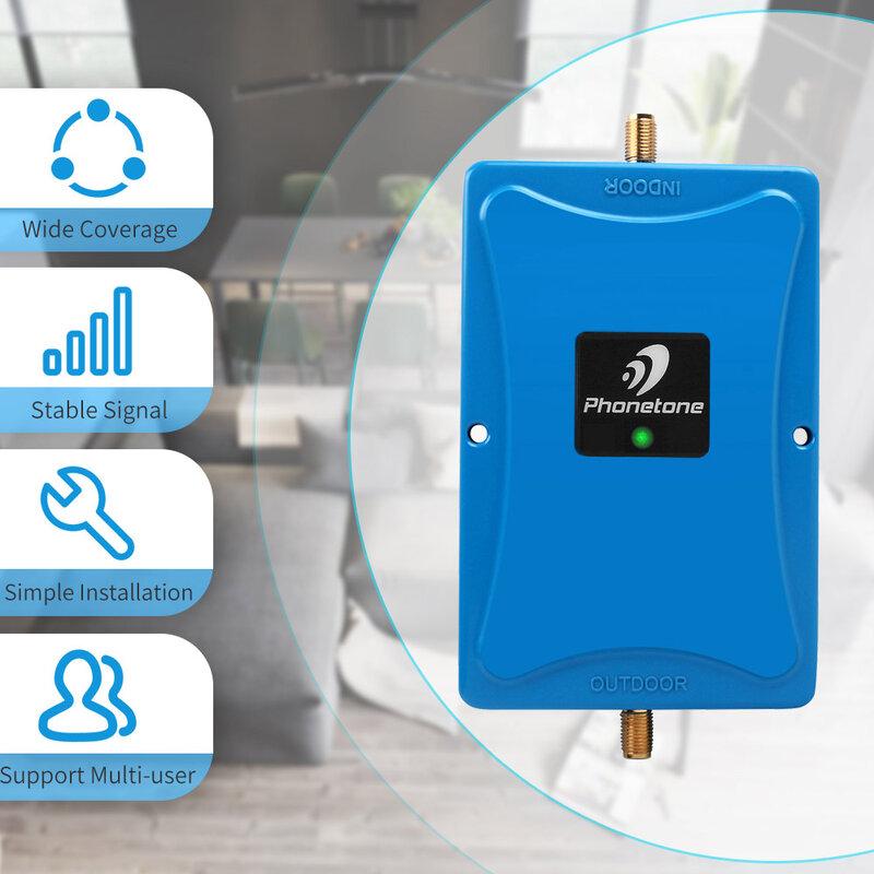 مضخم إشارة GSM 3g ، معزز إشارة خلوي 850 ميجاهرتز ، مكرر أحادي النطاق ، مكبر اتصالات عالي الكسب 70 ديسيبل