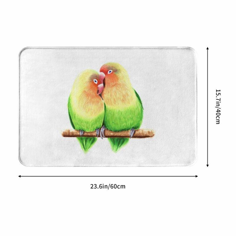بساط ممسحة من Lovebird سجاد سجادة من البوليستر مضاد للإنزلاق ديكور للأرضيات حمام غرفة نوم المطبخ 40x60