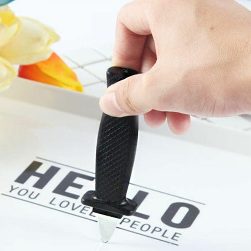 هالوين الطرف مزحة اللعب محاكاة البلاستيك الربيع قابل للسحب سكين وهمية Y4UD