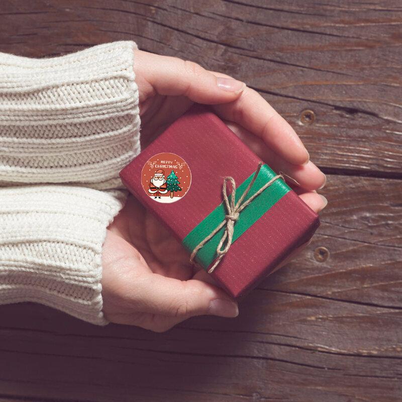 500 قطعة 2.5 سنتيمتر هدية مغلف ختم ملصقات عيد ميلاد سعيد تصميم Diary سكرابوكينغ ملصق مهرجان حفلة عيد ميلاد هدية ديكور