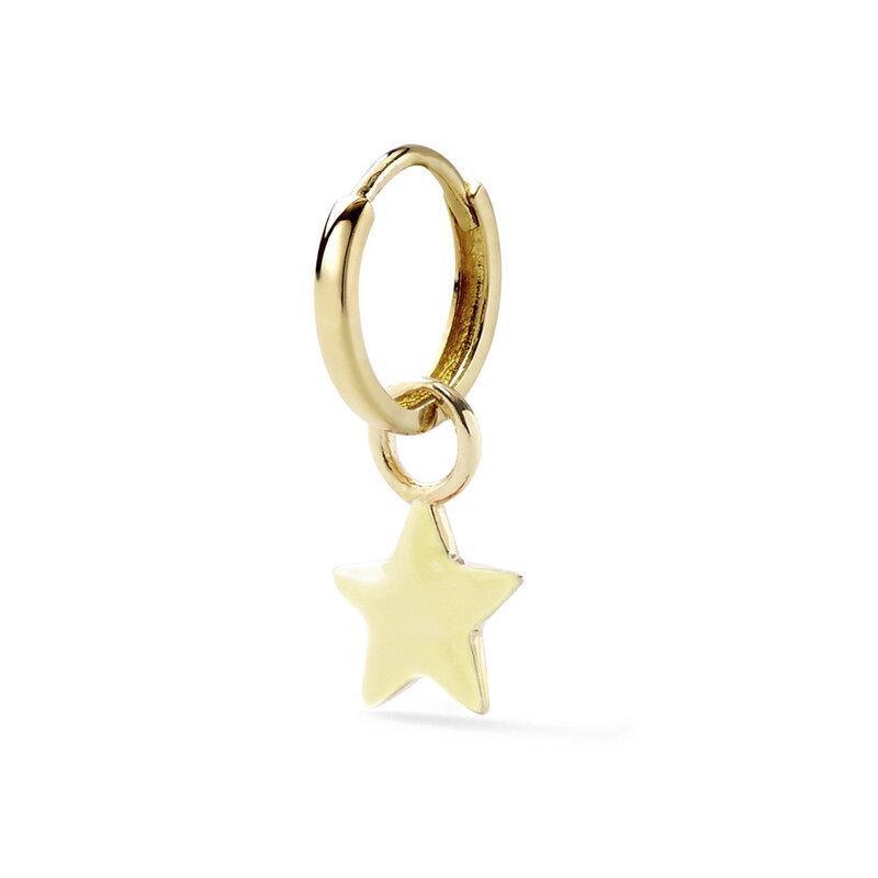 3 قطعة سبائك النفط بالتنقيط الذهب استرخى القرط للنساء لطيف صغيرة الخماسية ستار ثقب طقم من الحلقان متعدد الألوان مجوهرات 2021