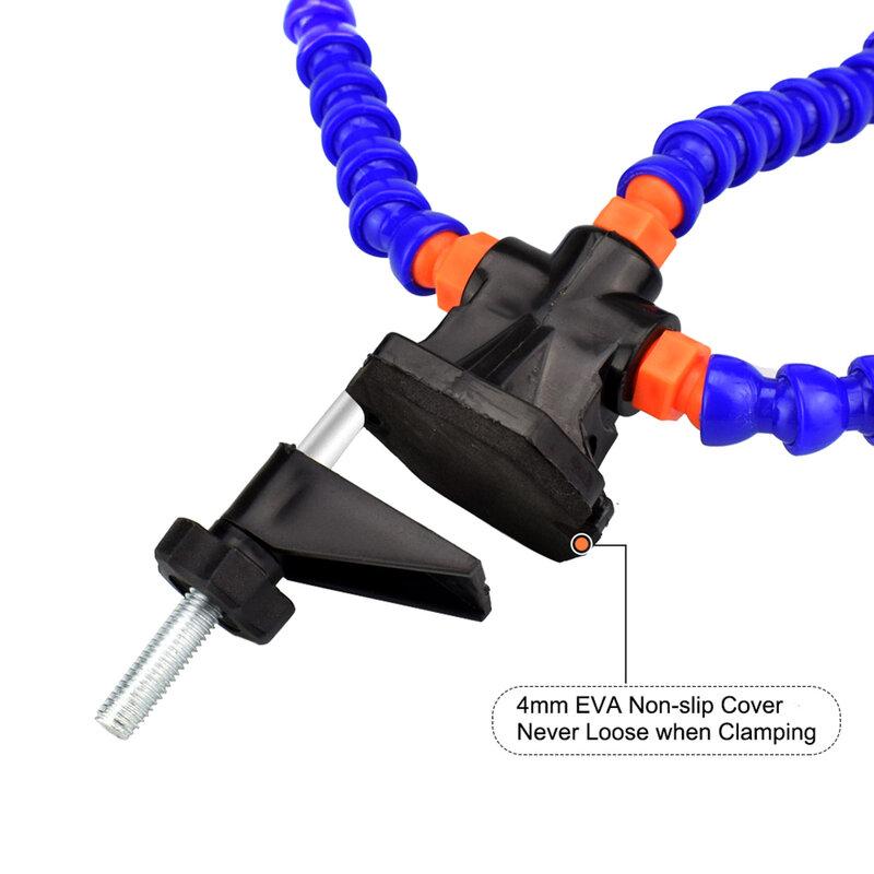 الجدول المشبك محطة لحام ورشة الثالثة مساعدة اليد مرنة الذراع أدوات إصلاح معدات لحام الإمدادات