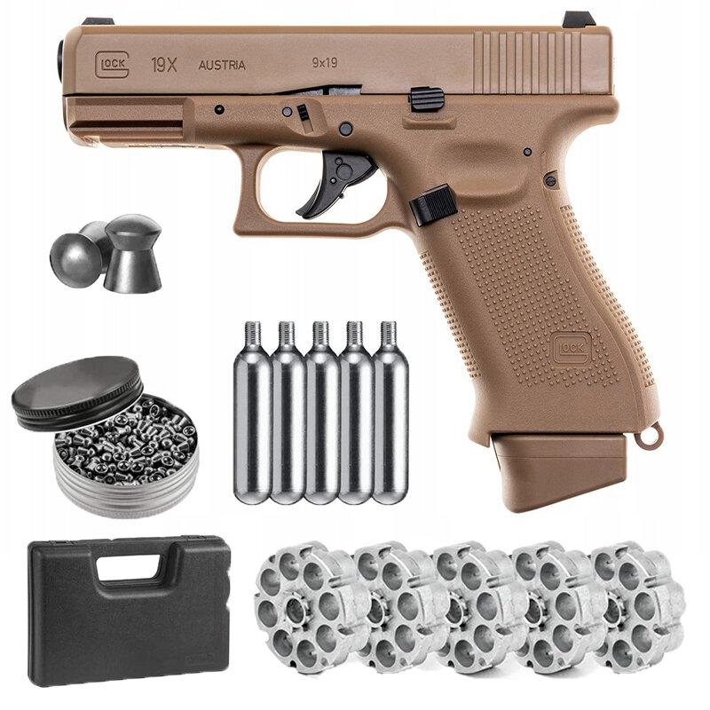 بيستوليت GBB غلوك 19X CO2 ذئب نموذج بندقية رصاصة محول Co2 الرصاص 500ct الرصاص الكريات Unzip المنزل ديكو علامات جدار معدني